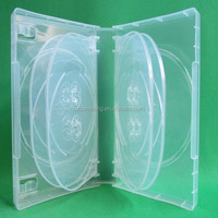 35mm gloosy surface plastic pp mutil 10 discs dvd case with outer clear plastic sleeve