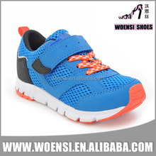 top selling trendy beautiful boys children blue orange colorful velcro athletic shoes