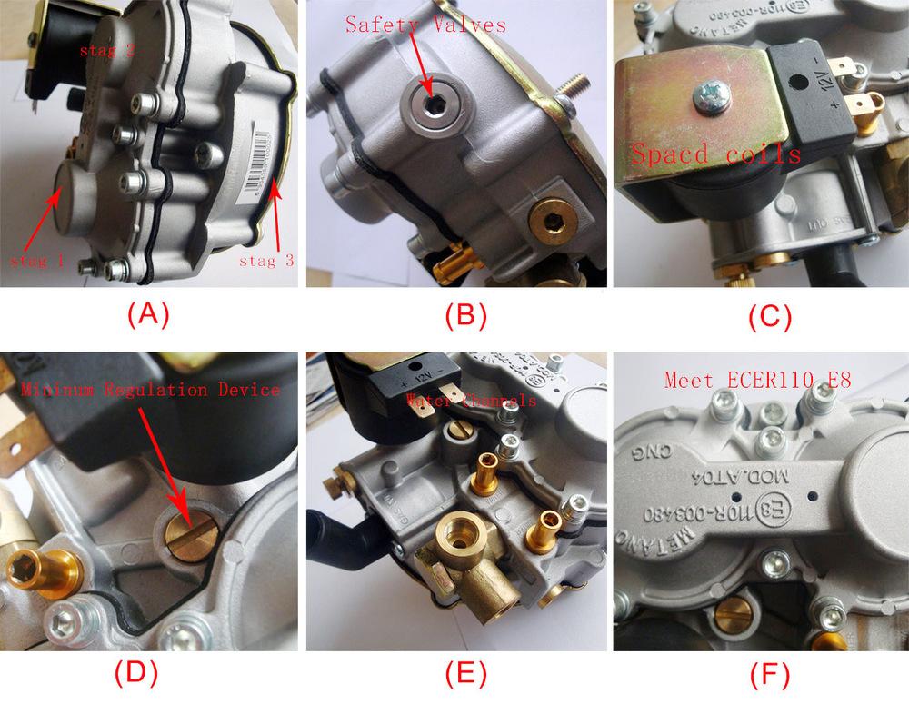 Cng redutor de pressão de gás ( regulador ) ( B-1 ), Gás natural regulaor