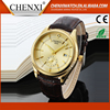 Best Selling Latest Design Day/Date 100% Genuine Leather Watch Strap Watch Oem Custom Logo Watches Wholesale