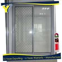 Australia standards stacking sliding glass doors/three panel sliding glass door/aluminium sliding door