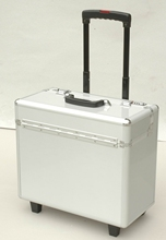 Varnish aluminum trolley jewelry case,54cm trolley case with Jacquard and Bag inner,toto travel luggage