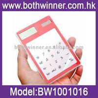 Transparent Solar Powered Touch Screen Calculator for best promotional and gifts