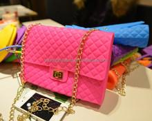 2015 Fashion silicone shoulder bag ,Silicone Jelly Ladies Handbag,Silicone Lady Candy Tote Bag
