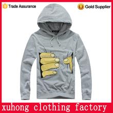 Custom high quality silk screen printing fleece hoody lahore