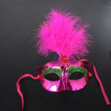 party mardi gras carnival maskquerade feather mask with light