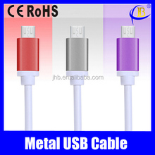 New!!! Micro USB Cable USB Data Cable USB Charger Cable With Metal Connector for iphone