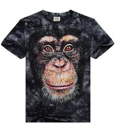AliExpress fashion new men's T-shirt 3D printing creative T-shirt tide male version of men's Outlet Planet of the Apes rise SML