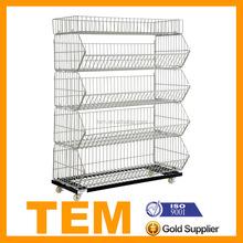 China Manufacturer High Quality Metal Folding Wire Shelf