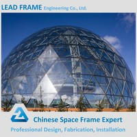 Prefab steel structure modern building glass dome