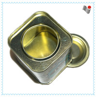 2015 hot sale square vintage coffee tin can