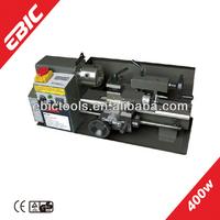 EBIC mini metal lathe machine China 400W semi automatic small used metal lathes for sale