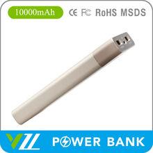 Polymer Battery Power Bank 10000mah Portable, Black Golden Silver Color 10000 mah Power Bank Charger
