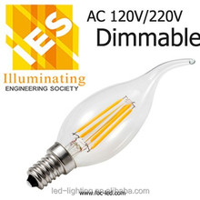Chandelier filament led e14 bulb ,e14 sapphire LED bulb,led lamp e12 filament