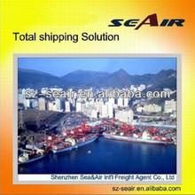 china ocean shipping agency from Shenzhen or Guangzhou to Europe