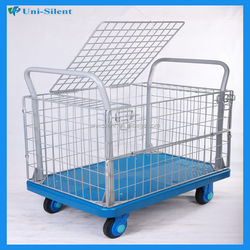 Wire mesh plastic deck roll container