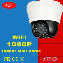 best mini color ir night vision speed dome indoor wifi 2p2 wireless 2mp ip camera supporting TF card storage, 32G at most