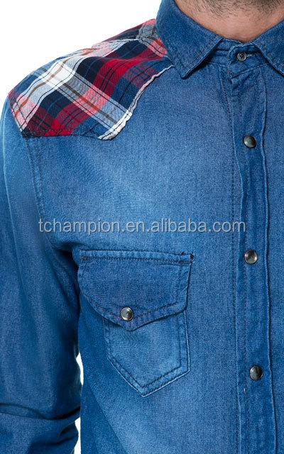 (# TG529SH ) 2015 china wholesale guangzhou clothing label long sleeve latest shirt designs for men