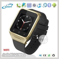 Latest cheap 3G Android OS v4.4 smart touch screen wrist watch bluetooth mobile phone(S8)