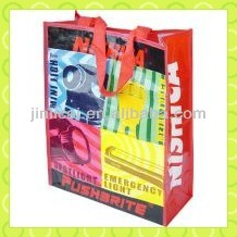pp laminated plastic woven tote shopping bag for travel luggage