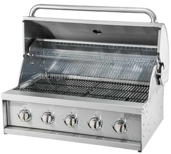 Table top gas grill head stainless steel built