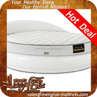royal romantic visco foam sprung coil round bed mattress