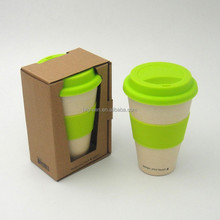 Fashion biodegradable cup with protective sleeve