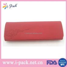 Custom printed handmade red reading eyeglasses case box for business men