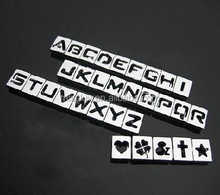 10mm 8mm alphabet letter number slide charms rhinestone paved cross heart crown star slide charms color enamel slide charms