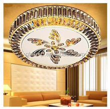 Or cristal de lumière de plafond suspendu, Ronde plafond plat led lumière