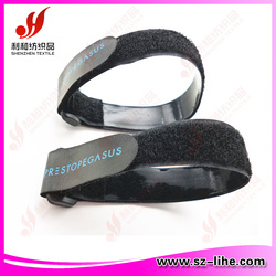 self-locked magic tape silicone band , hook and loop silicone strap