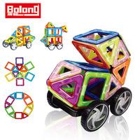Bolong Hot sale!10017 3d magnetic building blocks toys/kids DIY 63pcs plastic toy