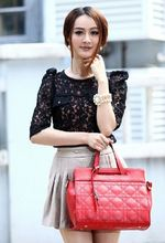 Fashional cute black White blue red ladies leather cross body bag