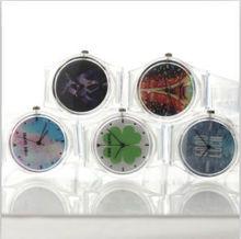 2015 wholesale quartz korea lucency wrist watch silicon watch 100-1