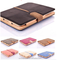 360 degree rotating bracket dormant business leather cases for ipad air 2 CO-LTC-315