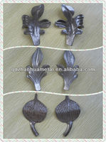 wrought iron leaves/stamped leaves