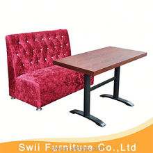restaurant straight booth design sectional sofa