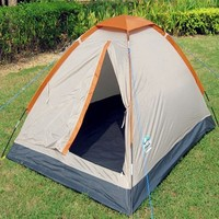 Single Layer, Fiberglass Pole Outdoor Camping Tent for 1-2 Person