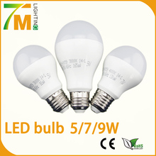 B22 E27 Led Bulb 5W 7W 9W high humen ,incandescent light bulbs replacement with 2 year warranty