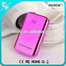 Pure colorful portable power bank 6000mAh universal with Dual Output portable mobile power bank