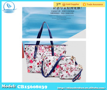 2015 new portable shoulder bag 3 sets of printing female bag manufacturers wholesale handbag designer