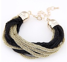 2015 nueva moda pulsera de oro de las señoras diseños pulsera de cadena