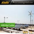 2015 400w solar híbrido de viento generador de turbina