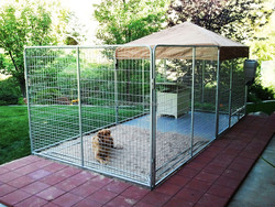 Large Heavy Duty Cage Pet Dog Cat Barrier Fence Exercise Metal Play Pen Kennel