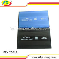 """Hard Disk Leather Case with USB2.0 2.5""""SATA HDD Enclosure 1TB"""