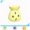 Wholesale yellow stars and moons ceramic oil burner