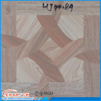 Bathroom Design Wood Pattern Square Ceramic Floor Tile 400x400mm