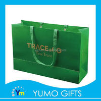 product green style large size packaging garment paper bag gor shopping gift paper bag