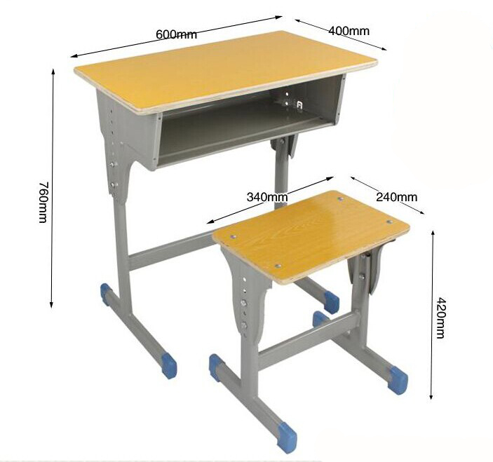Primary School Furniture Desk College Student Chairs
