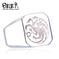 New Game of Thrones Targaryen House Logo Fire Dragon Ring Jewelry Wholesale Factory Price BR8-196